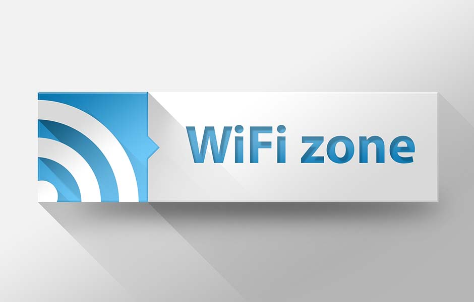 3d WIFI Internet zone flat design illustration
